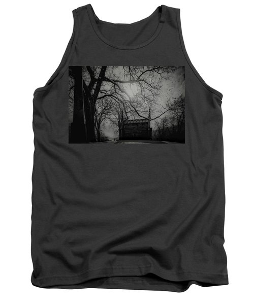Tank Top featuring the digital art Necropolis Nine by Chris Lord