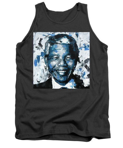 Tank Top featuring the painting Nelson Mandela II by Richard Day