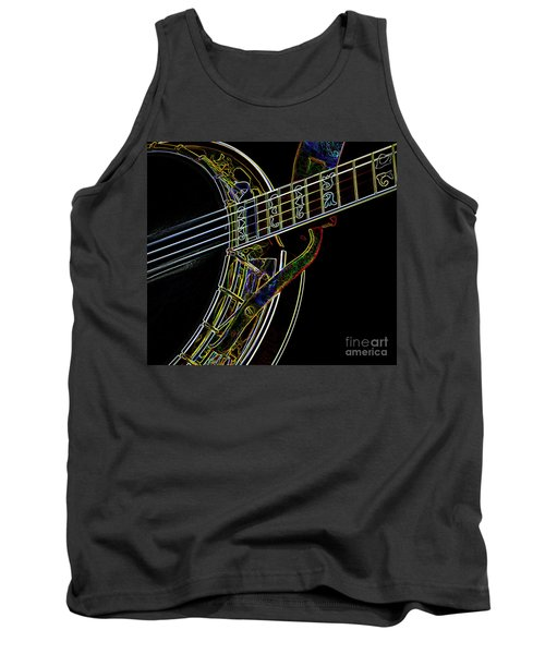 Tank Top featuring the photograph Neon Banjo  by Wilma Birdwell