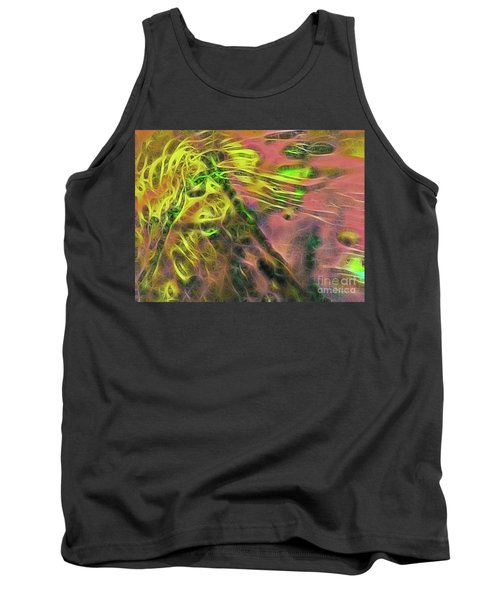 Neon Synapses Tank Top by Todd Breitling