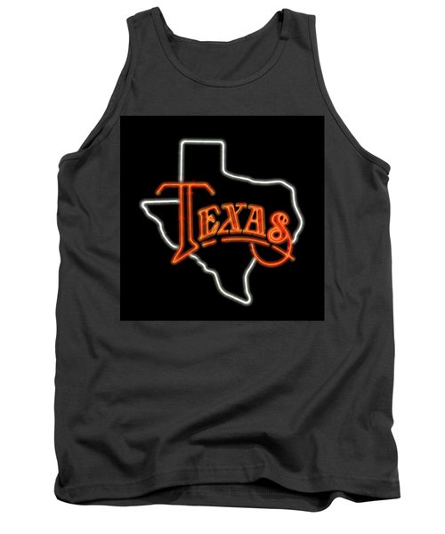 Tank Top featuring the digital art Neon Texas by Daniel Hagerman
