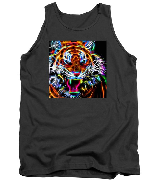 Neon Tiger Tank Top by Andreas Thust