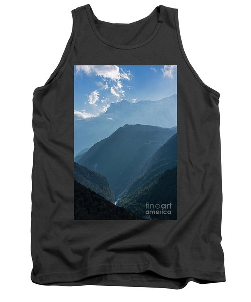 Nepal Road To Namche Sunray Layers Tank Top