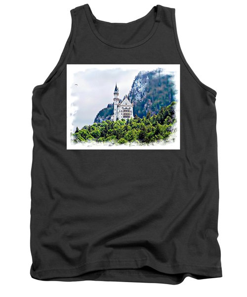 Tank Top featuring the photograph Neuschwanstein Castle With A Glider by Joseph Hendrix