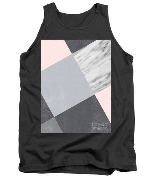 Neutral Collage With Marble Tank Top