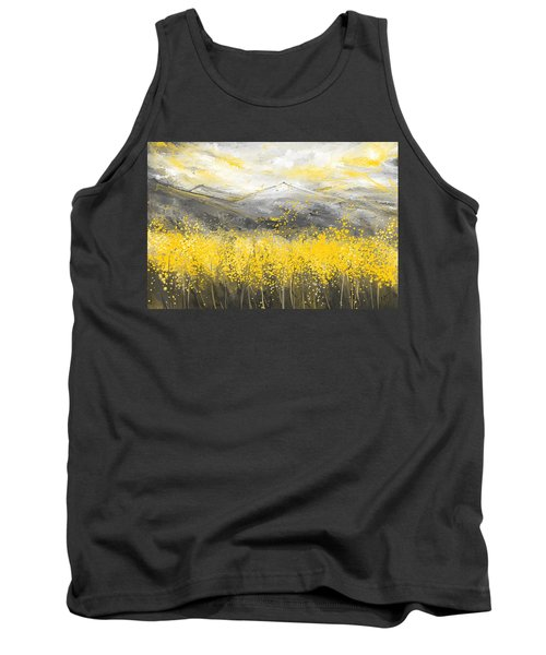 Neutral Sun - Yellow And Gray Art Tank Top