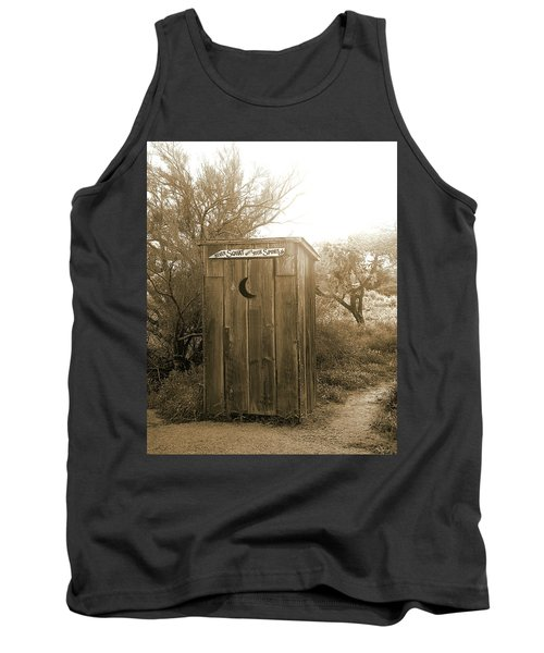 Never Squat With Your Spurs On, Sepia Tank Top