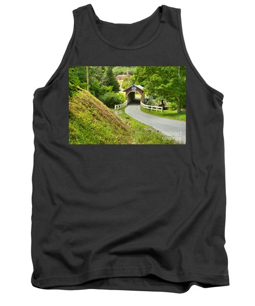 New Baltimore Covered Bridge Through The Forest Tank Top
