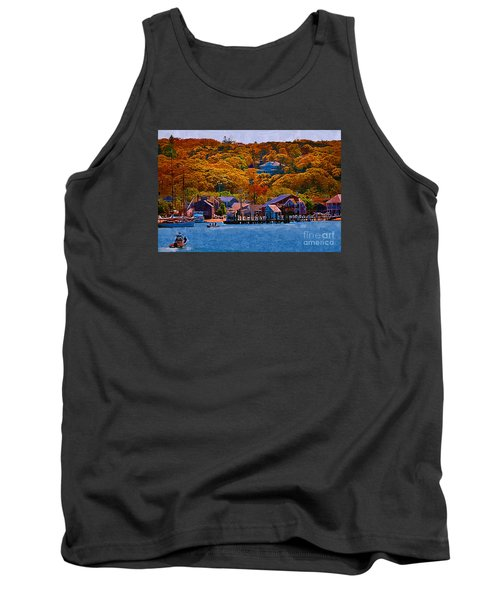 Tank Top featuring the digital art New England Fall Coastline by Kirt Tisdale