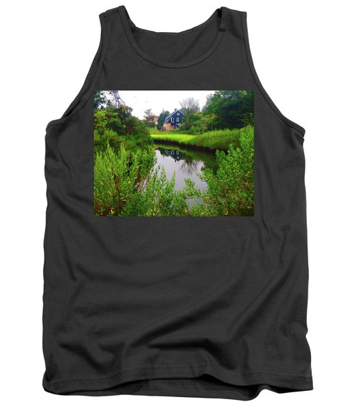 New England House And Stream Tank Top
