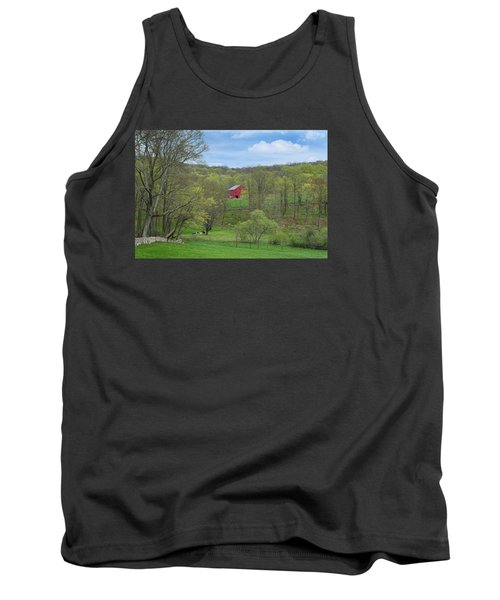 Tank Top featuring the photograph New England Spring Pasture by Bill Wakeley