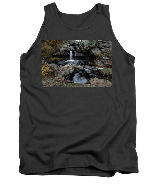 New England Waterfall In Autumn Tank Top