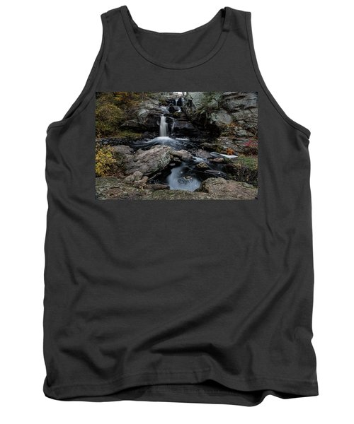 New England Waterfall In Autumn Tank Top