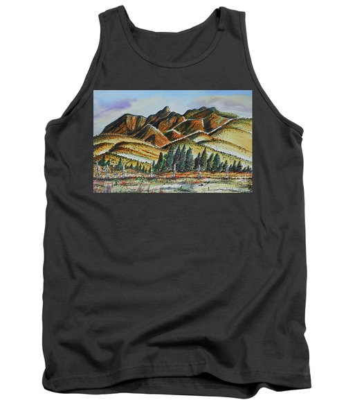 Tank Top featuring the painting New Mexico Back Country by Terry Banderas