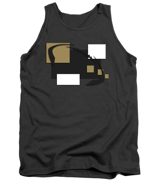New Orleans Saints Abstract Shirt Tank Top by Joe Hamilton