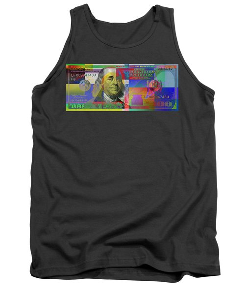New Pop-colorized One Hundred Us Dollar Bill Tank Top