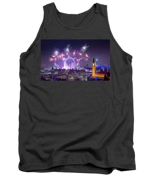 New Year Fireworks London Tank Top