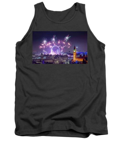 New Year Fireworks London Tank Top