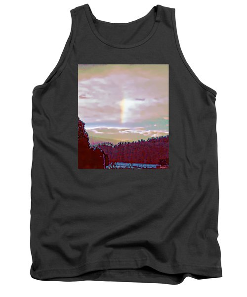 New Year's Dawning Fire Rainbow Tank Top