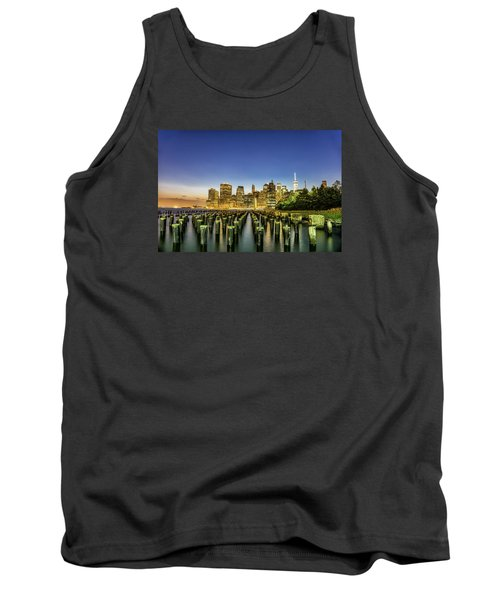 Tank Top featuring the photograph New York City From Brooklyn by Rafael Quirindongo
