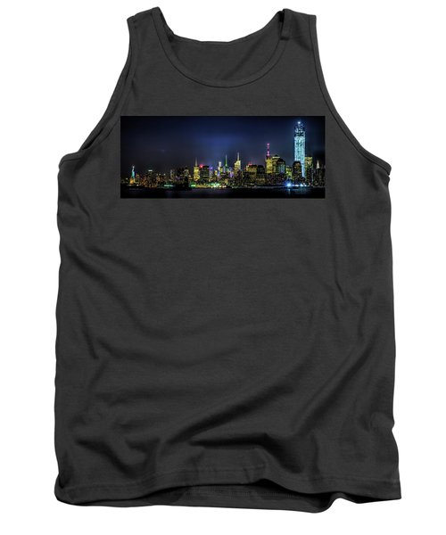 Tank Top featuring the photograph New York City Skyline by Theodore Jones