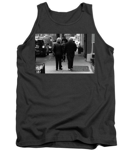 Tank Top featuring the photograph New York Street Photography 75 by Frank Romeo