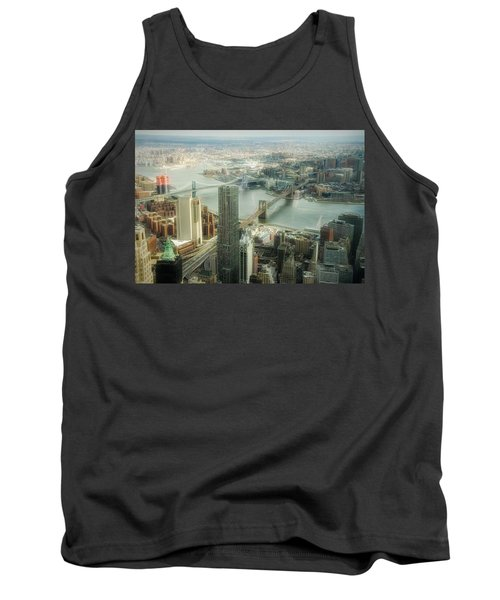 New York View Of East River Tank Top