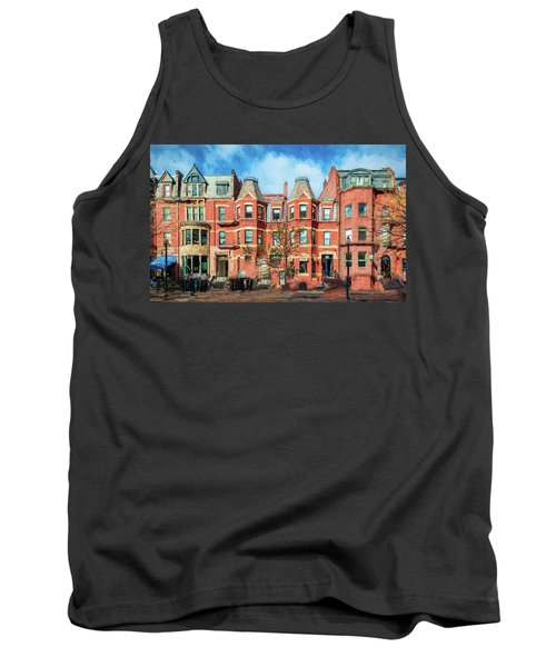 Newbury Street In Boston Tank Top