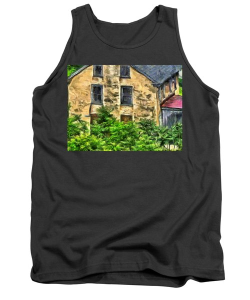 Tank Top featuring the mixed media Niccolo by Trish Tritz