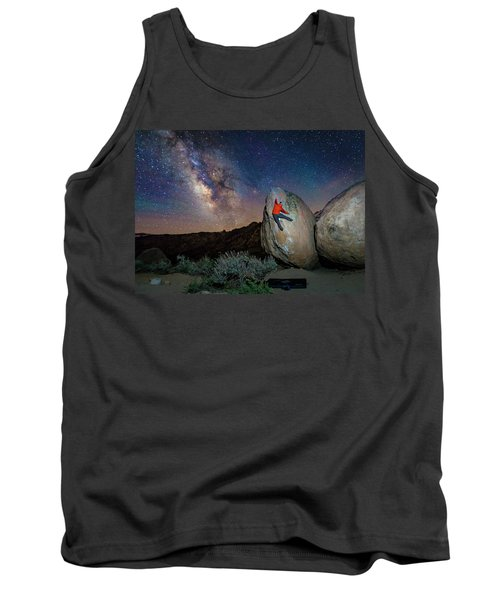 Night Bouldering Tank Top by Evgeny Vasenev