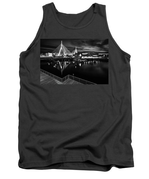 Night Falling On Zakim Bridge Tank Top
