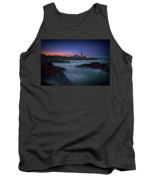 Tank Top featuring the photograph Night Falls On Portland Head by Rick Berk