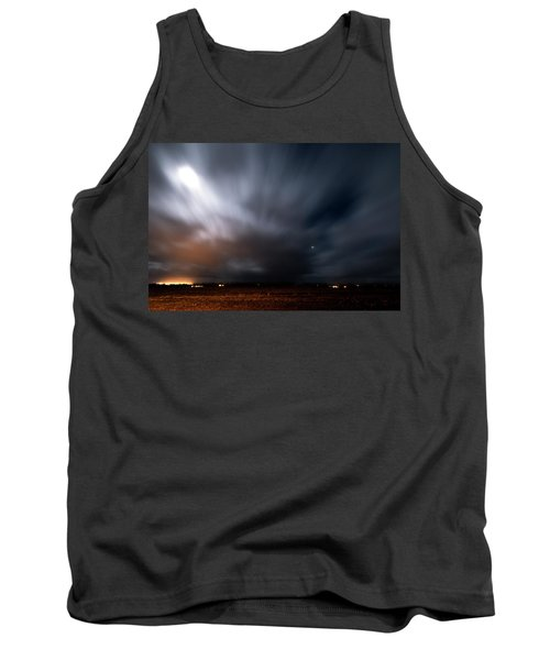 Tank Top featuring the photograph Night In Iceland by Dubi Roman