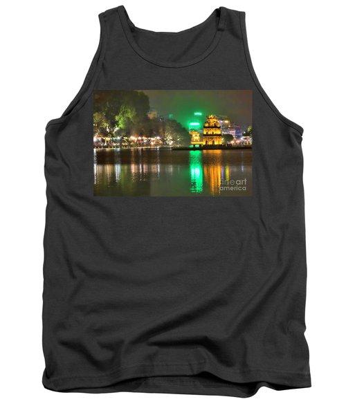 Night Moods Turtle Tower Hanoi Tank Top