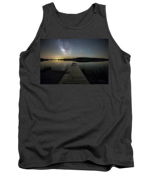 Tank Top featuring the photograph Night On The Dock by Aaron J Groen