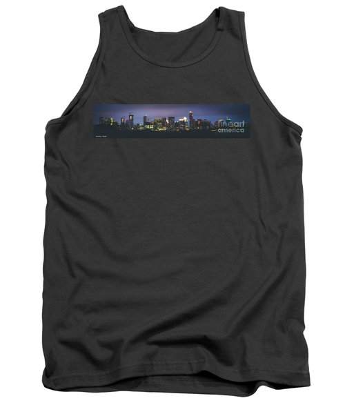 Night View Of Downtown Skyline In Winter Tank Top