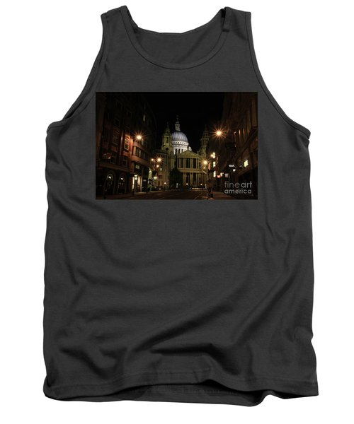 Night View Of St Pauls Cathedral  Tank Top
