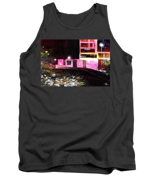 Tank Top featuring the painting Night Walk by Anil Nene
