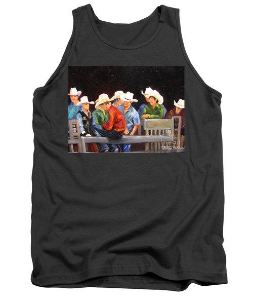 Nine Cowboys On A Fence Tank Top