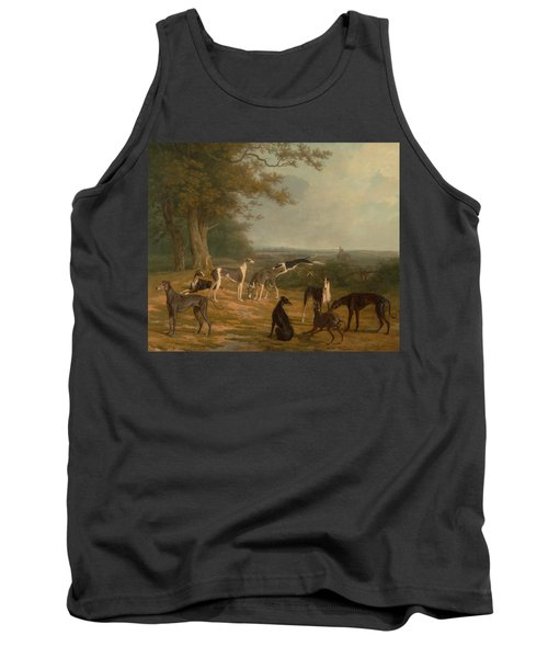 Nine Greyhounds In A Landscape Tank Top