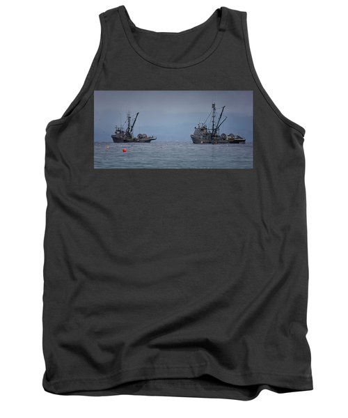 Tank Top featuring the photograph Nita Dawn And Cape George by Randy Hall
