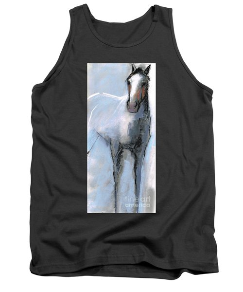 Tank Top featuring the drawing Nm Sketch Bw by Frances Marino