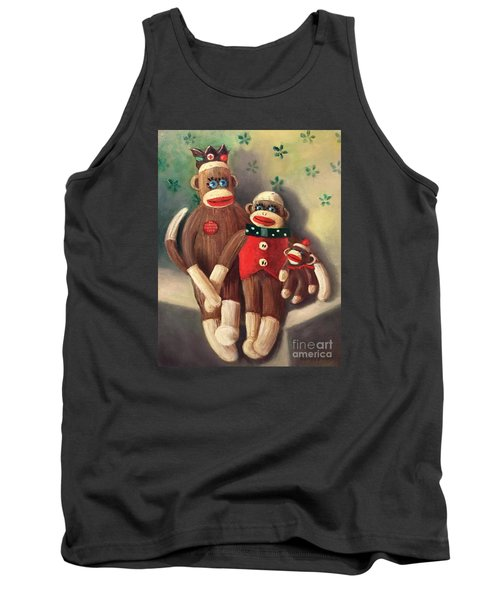 No Monkey Business Here 2 Tank Top by Randy Burns