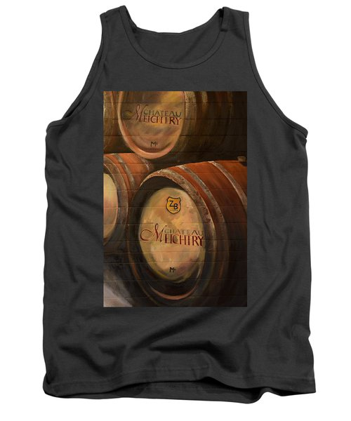 No Wine Before It's Time - Barrels-chateau Meichtry Tank Top by Jan Dappen