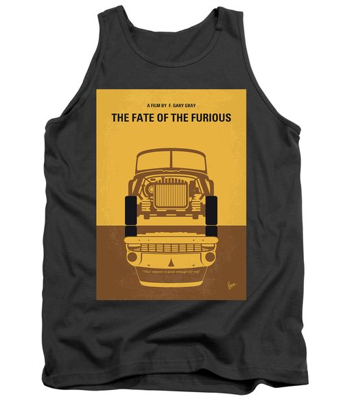 No207-8 My The Fate Of The Furious Minimal Movie Poster Tank Top