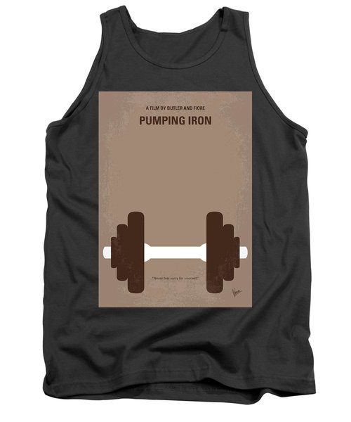 No707 My Pumping Iron Minimal Movie Poster Tank Top by Chungkong Art