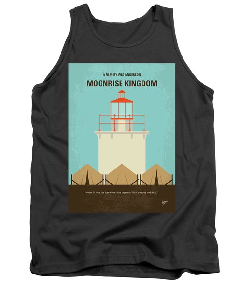 Tank Top featuring the digital art No760 My Moonrise Kingdom Minimal Movie Poster by Chungkong Art