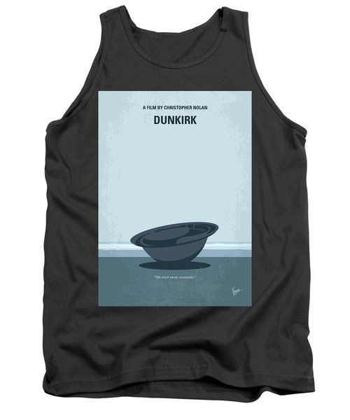 No905 My Dunkirk Minimal Movie Poster Tank Top