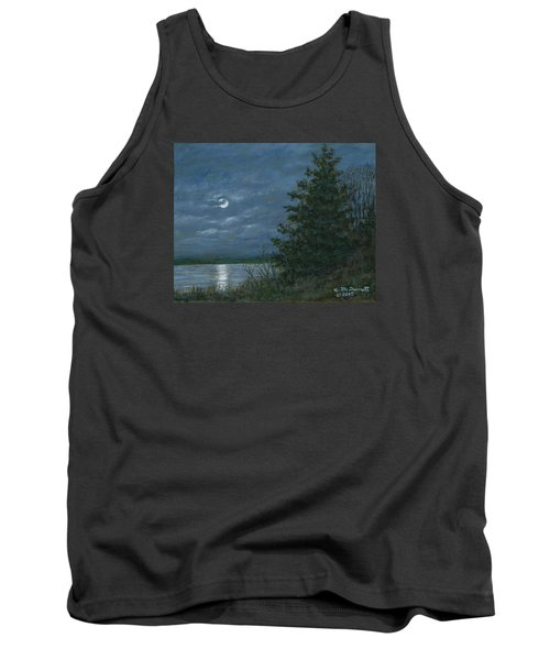 Tank Top featuring the painting Nocturne In Blue by Kathleen McDermott