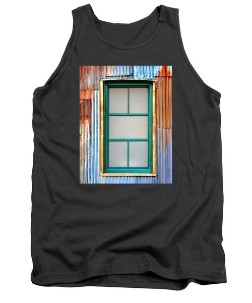 Nonwindow Surrounded By Color Tank Top by Gary Slawsky
